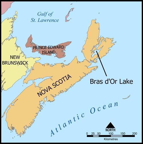 NS - Cape Breton Map