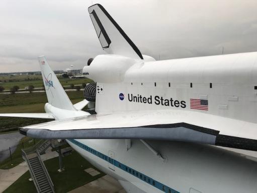Shuttle Atop 747